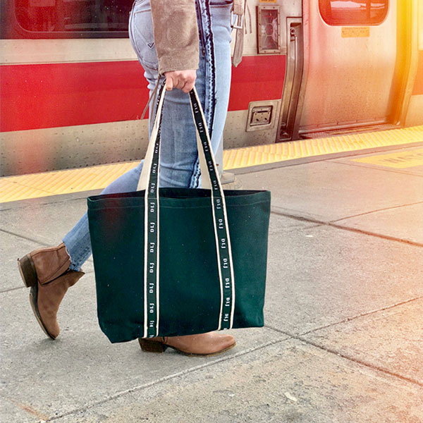 Tote Bag at Train station by Warden Brooks-