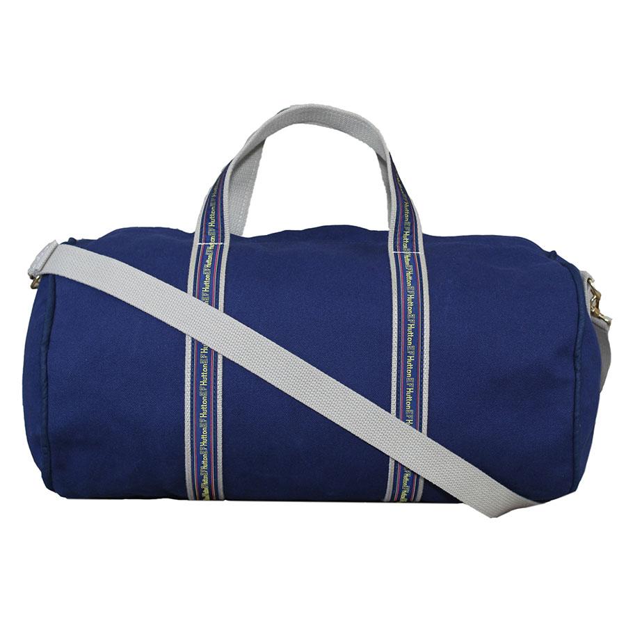 Navy And Natural Banker Bag